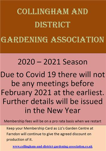 - Collingham and District Gardening Association