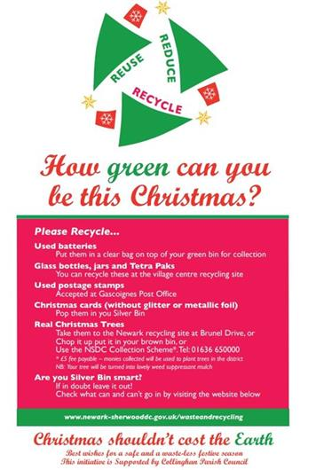 Recycle - Have a Green Christmas in Collingham