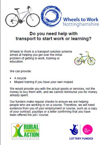 - Do you need help with transport to start work or learning?